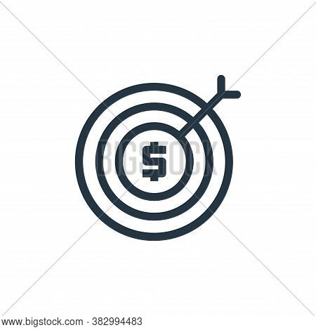 goal icon isolated on white background from business and money collection. goal icon trendy and mode