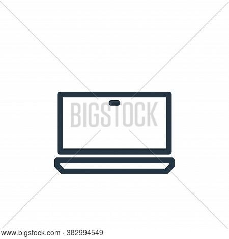laptop icon isolated on white background from communication and media collection. laptop icon trendy