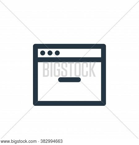 web page icon isolated on white background from user interface collection. web page icon trendy and