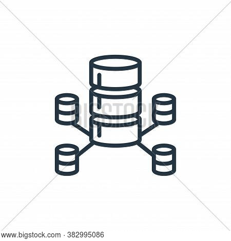data network icon isolated on white background from cloud computing collection. data network icon tr