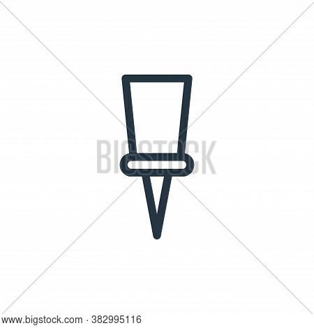 pin icon isolated on white background from school collection. pin icon trendy and modern pin symbol