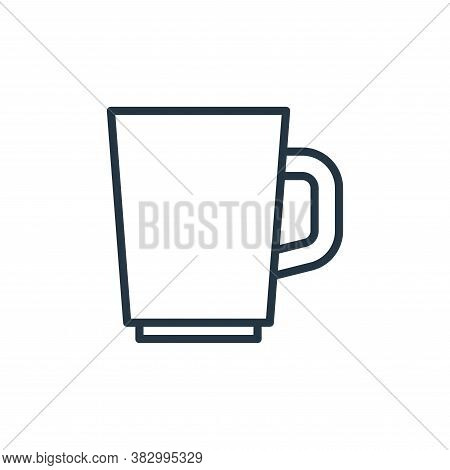 mug icon isolated on white background from bathroom accessories collection. mug icon trendy and mode