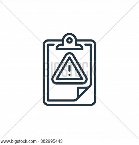 risk icon isolated on white background from cyber security collection. risk icon trendy and modern r