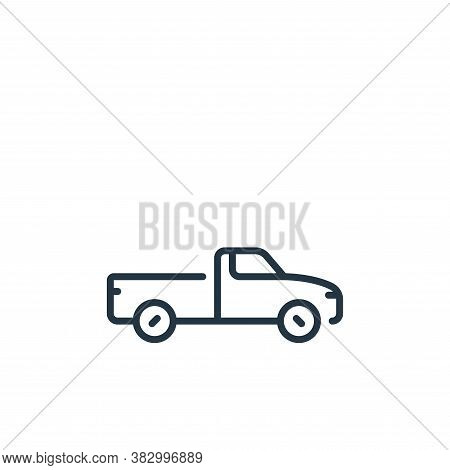 pick up car icon isolated on white background from vehicles transportation collection. pick up car i