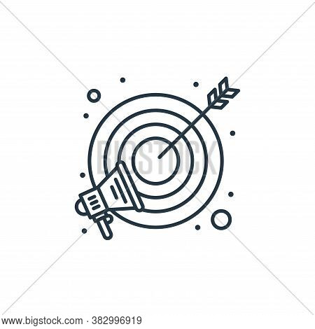 target icon isolated on white background from digital marketing collection. target icon trendy and m