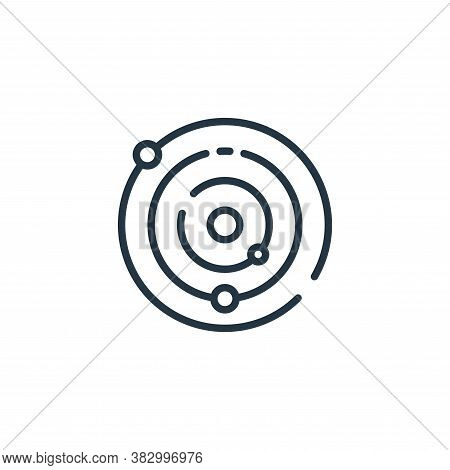 solar system icon isolated on white background from universe collection. solar system icon trendy an