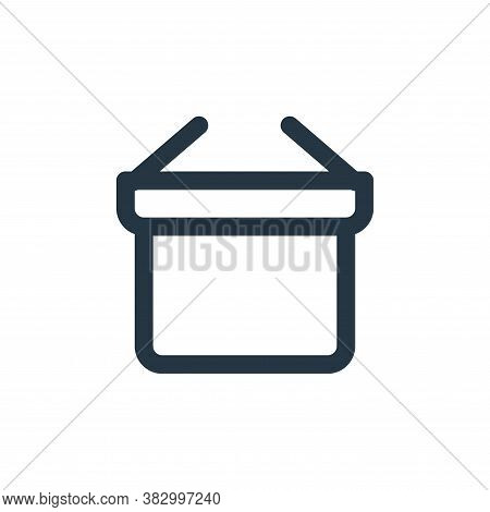 basket icon isolated on white background from ecommerce ui collection. basket icon trendy and modern