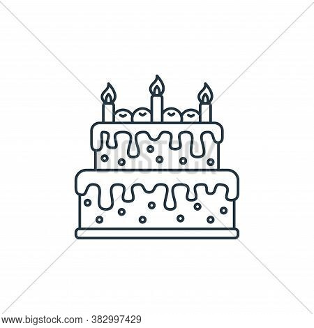 cake icon isolated on white background from birthday party collection. cake icon trendy and modern c