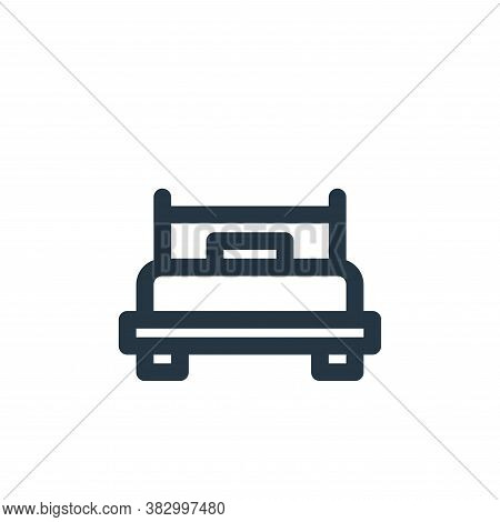 bed icon isolated on white background from furniture collection. bed icon trendy and modern bed symb