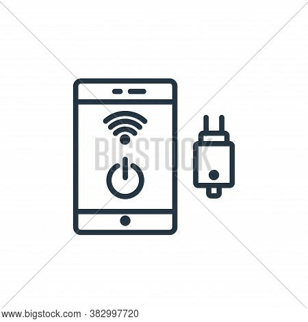 phone icon isolated on white background from internet of thing collection. phone icon trendy and mod