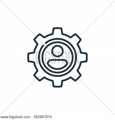 social engineering icon isolated on white background from cyber security collection. social engineer