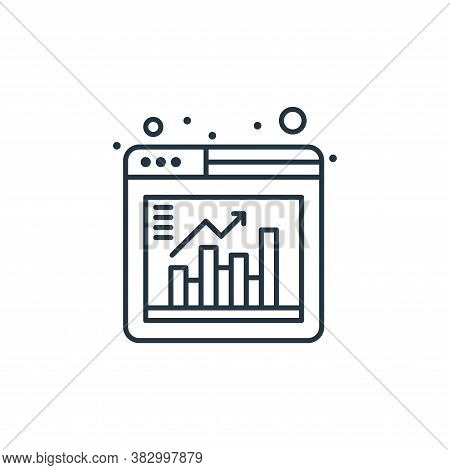 web analytics icon isolated on white background from digital marketing collection. web analytics ico