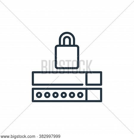 password icon isolated on white background from cyber security collection. password icon trendy and