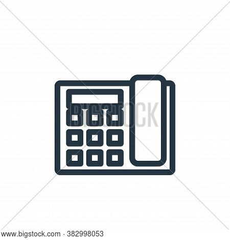 telephone icon isolated on white background from office equipment collection. telephone icon trendy
