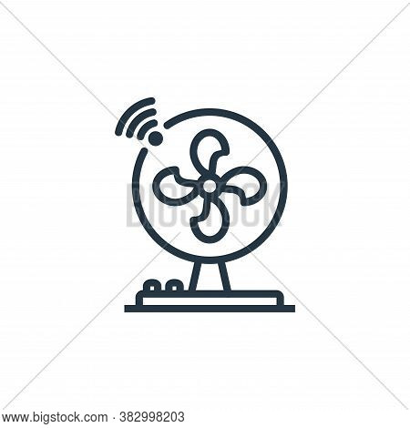 fans icon isolated on white background from internet of thing collection. fans icon trendy and moder