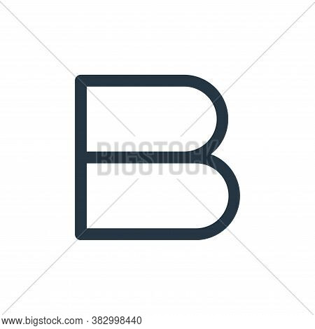 bold icon isolated on white background from text editor collection. bold icon trendy and modern bold