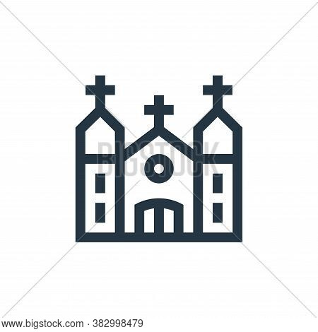 church icon isolated on white background from mexico collection. church icon trendy and modern churc
