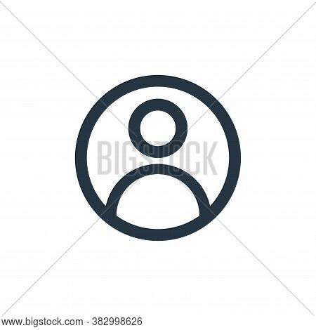 user profile icon isolated on white background from user interface collection. user profile icon tre