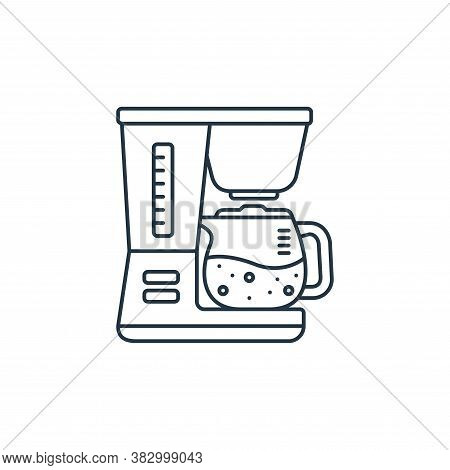 coffee maker icon isolated on white background from coffee shop collection. coffee maker icon trendy