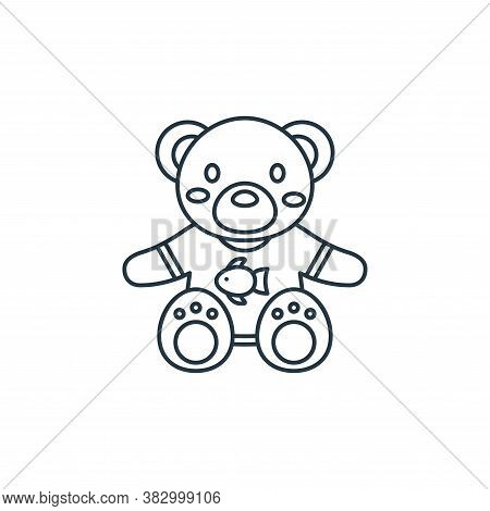 teddy bear icon isolated on white background from birthday party collection. teddy bear icon trendy