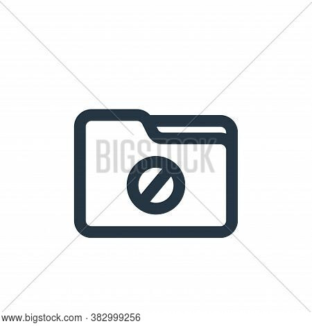 blocked icon isolated on white background from file and folder collection. blocked icon trendy and m