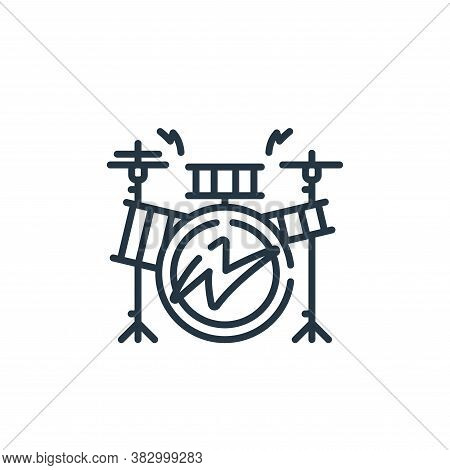 drum icon isolated on white background from rock and roll collection. drum icon trendy and modern dr