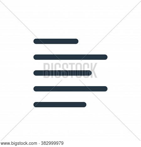 align left icon isolated on white background from text editor collection. align left icon trendy and