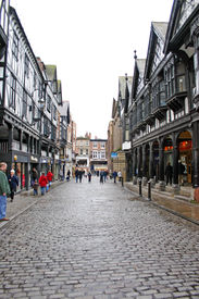 Wet Shopping Day In Chester