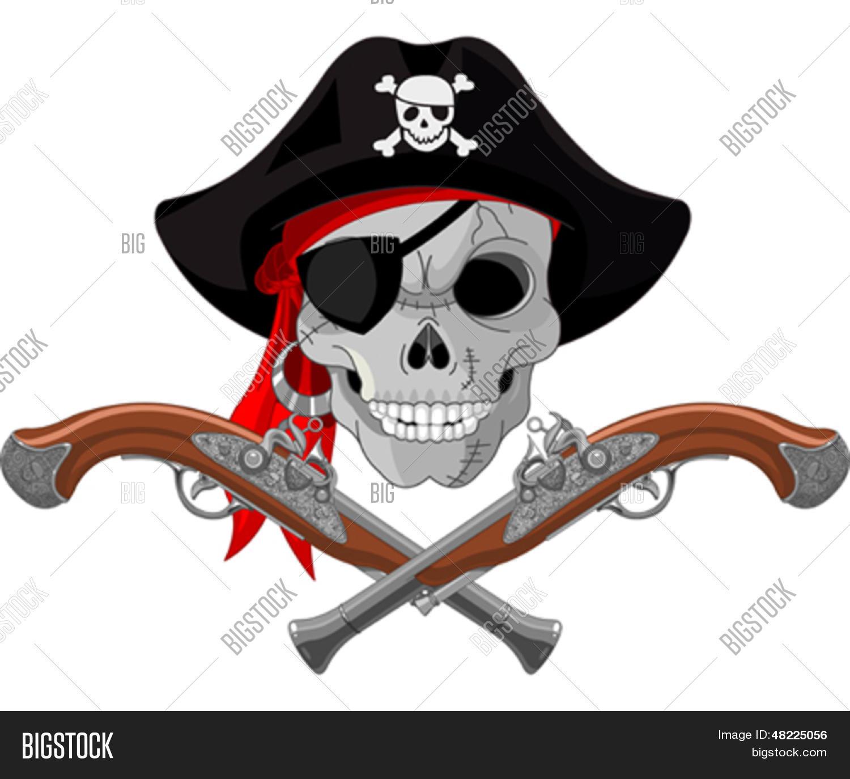 Vector Y Foto Calavera Pirata Y Prueba Gratis Bigstock