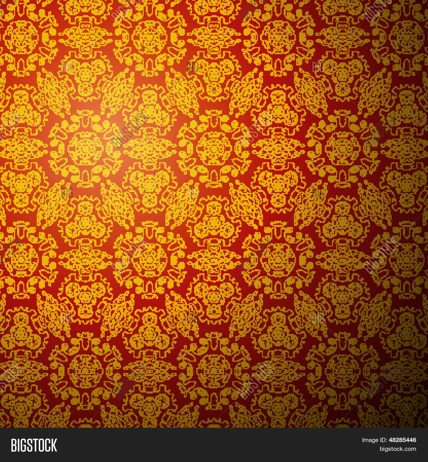 Chinese Pattern Background Seamless Wallpaper