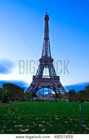 eiffel tower at night, France