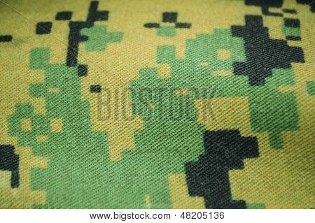 detail of digital camo fabric