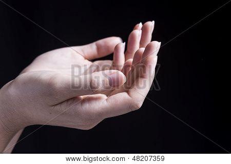 Female Hand Reciving