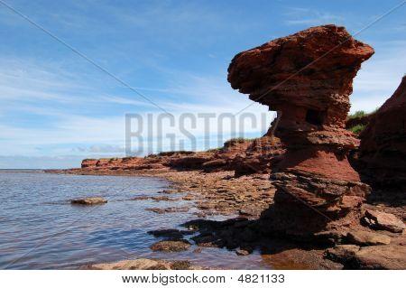 Pei Shoreline Rocks Erosion