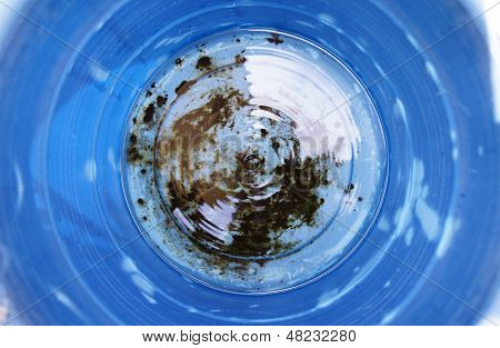 Round Blue Mound Of Water Abstact