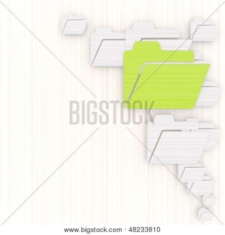 3D Render Of A Dapper Folder Background With Pictogram
