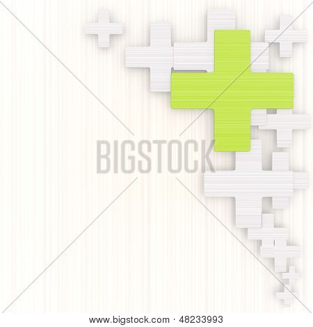 3D Render Of A Noble Cross Background With Pictogram
