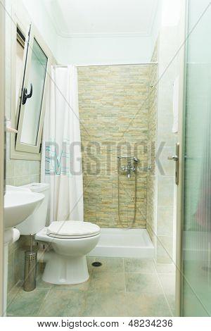 Modern Bathroom interior at summer resort