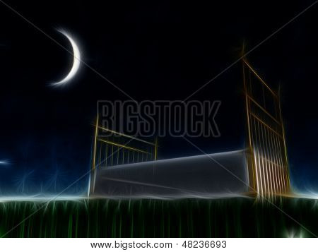 Bed outside under the stars