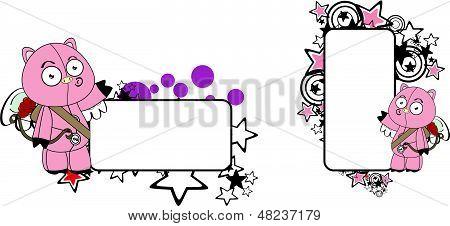 pig cherub cartoon copyspace