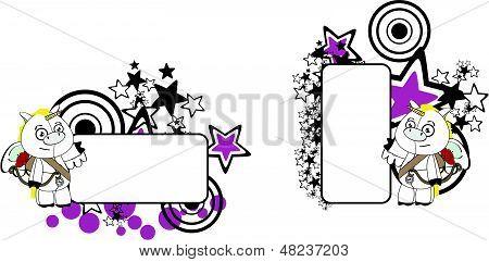 unicorn cherub cartoon copyspace
