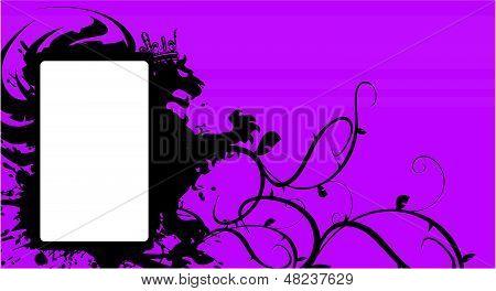 heraldic lion copysapce background