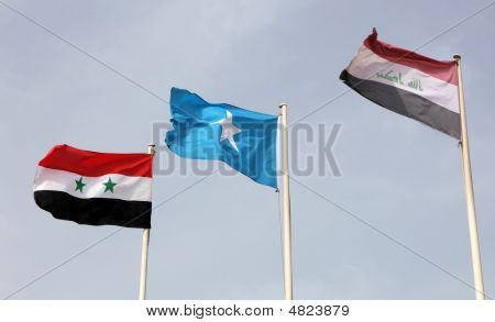 Iraqi, Somali And Syrian Flags