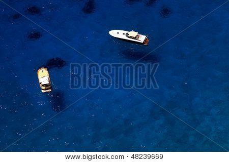 Yachting on the Mediteranean Sea, Capri Island, Europe