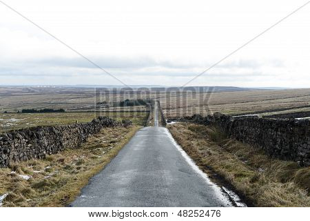 Long Straight Countryside Road