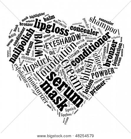 poster of Beauty products word cloud
