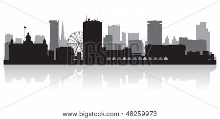 Birmingham City Skyline Silhouette