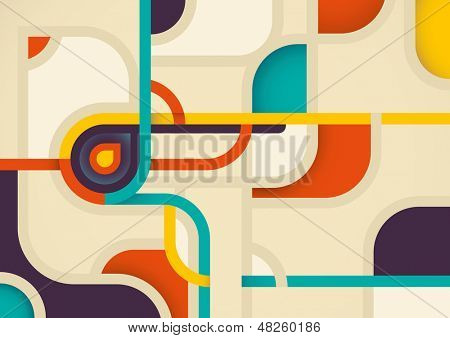 Illustration with modish abstraction. Vector illustration.