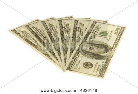 Fan Dollars On White