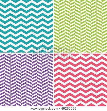 Seamless Zigzag (Chevron) Patterns